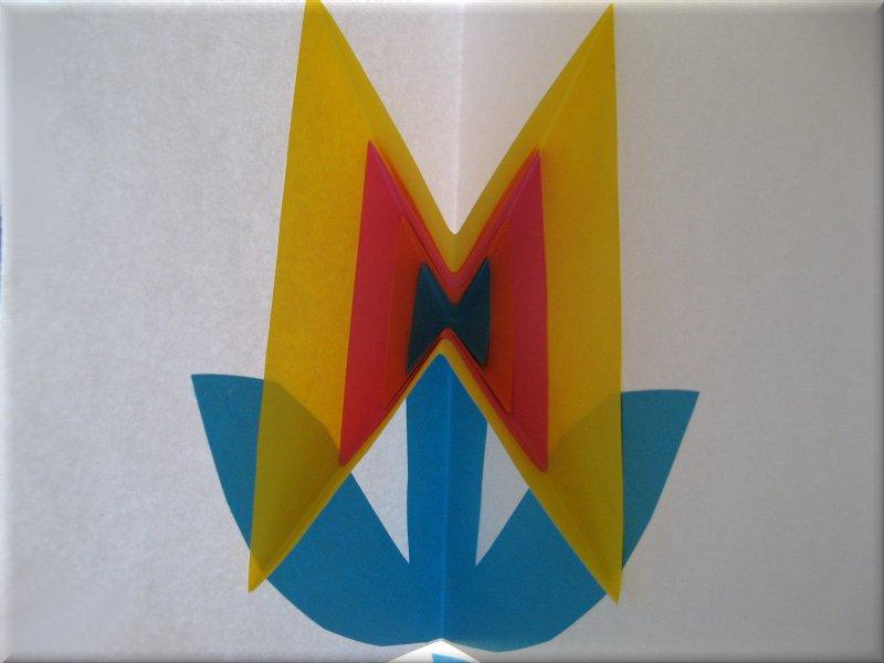 origami semplice fiore